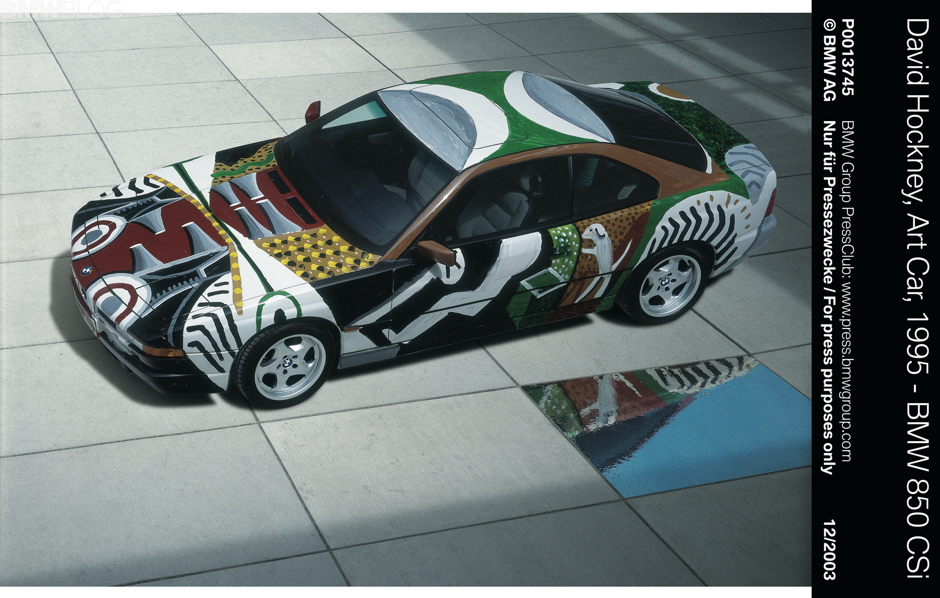 David Hockney's BMW Art Car 02